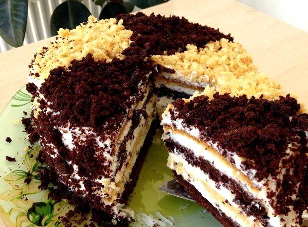 Рецепт торта быстро и вкусно в домашних условиях с фото