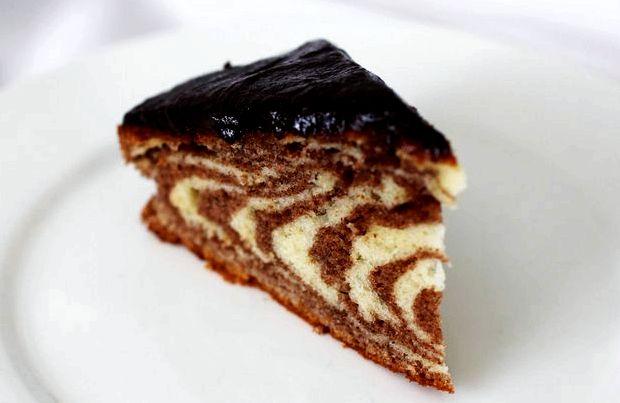 Рецепт торта зебра в домашних условиях с фото со сметаной