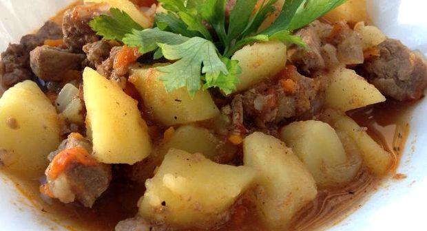 Рецепт жареной картошки с мясом на сковороде