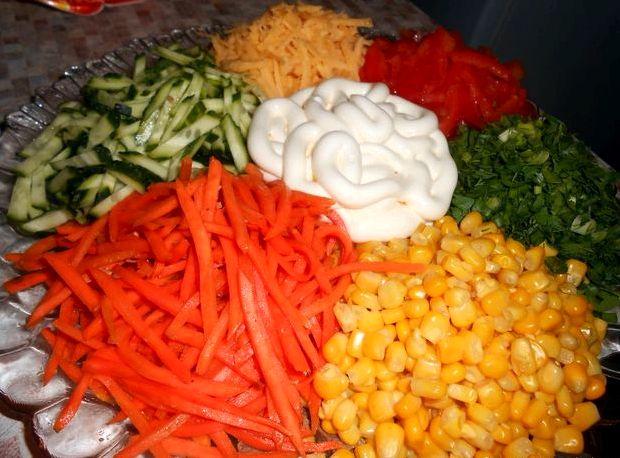 Салат цветик семицветик рецепт с корейской морковкой