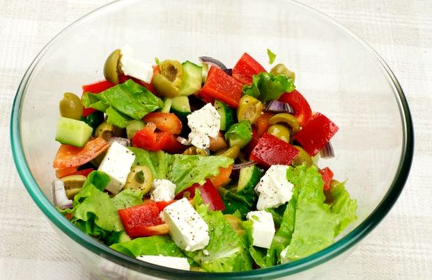 Салат греческий рецепт классический с фетаксой как в ресторане