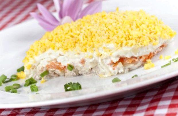 Салат мимоза пошаговый рецепт с фото с сайрой