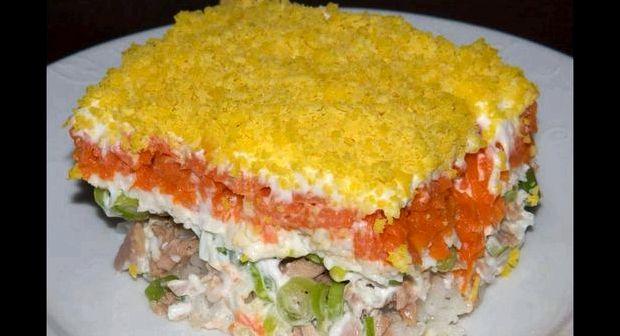 Салат мимоза с горбушей классический рецепт с фото пошагово