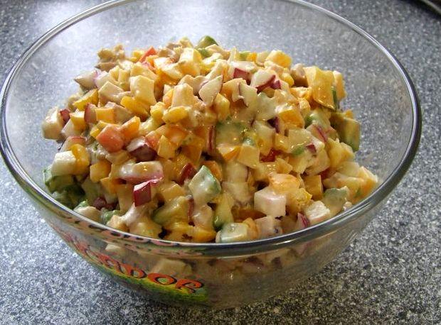Салат с авокадо простой рецепт с фото очень вкусный