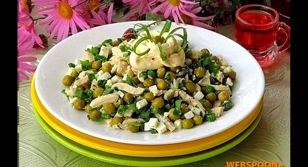 Салат с кальмаром консервированным рецепт с фото