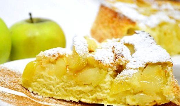 Шарлотка пошаговый рецепт с фото с яблоками
