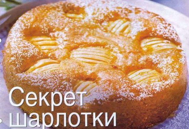 Шарлотка с яблоками в духовке простой рецепт с фото