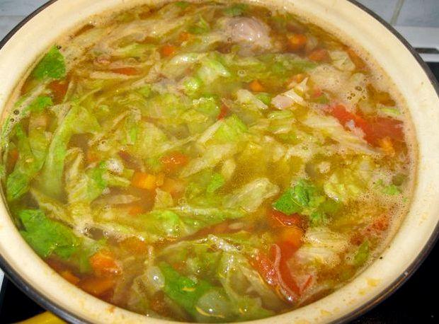 Щи из свежей капусты рецепт с курицей с фото пошагово