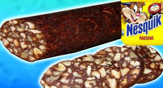Шоколадная колбаса из печенья пошаговый рецепт с фото старый