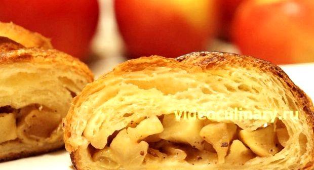Штрудель яблочный рецепт из слоеного бездрожжевого теста