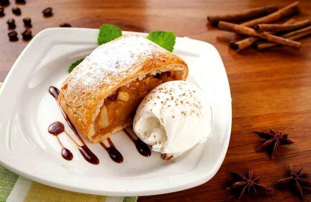 Штрудель венский с яблоками рецепт с фото пошагово самый вкусный