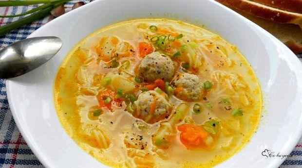 Суп с фрикадельками рецепт пошагово с вермишелью