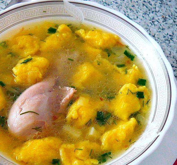 Суп с галушками пошаговый рецепт с фото с мясом