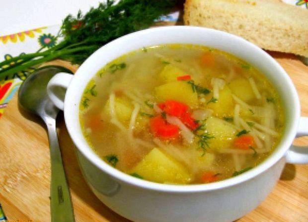 Суп с картошкой и курицей и вермишелью и картошкой рецепт