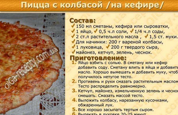 Тесто для пиццы дрожжевое быстрое на воде рецепт с фото пошагово