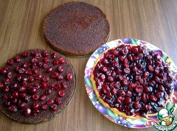 Торт чёрный лес классический рецепт с фото пошагово