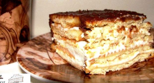 Торт из печенья без выпечки рецепт без творога