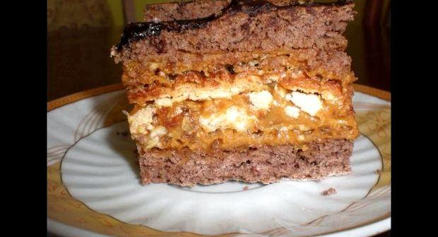 Торт из вафельных коржей готовых рецепт с фото