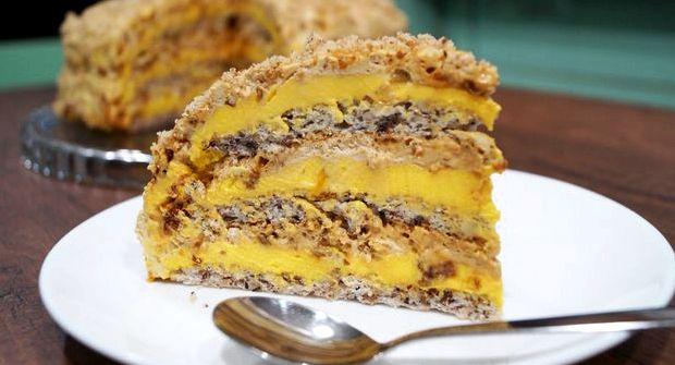 Торт легкий в приготовлении и очень вкусный рецепт с фото