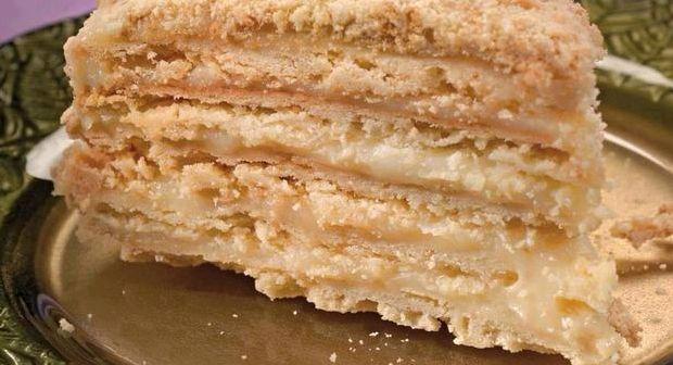 Торт наполеон со сгущёнкой рецепт с фото пошагово