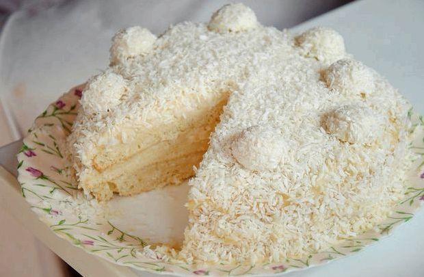 Торт с рафаэлло рецепт с фото пошагово в домашних условиях