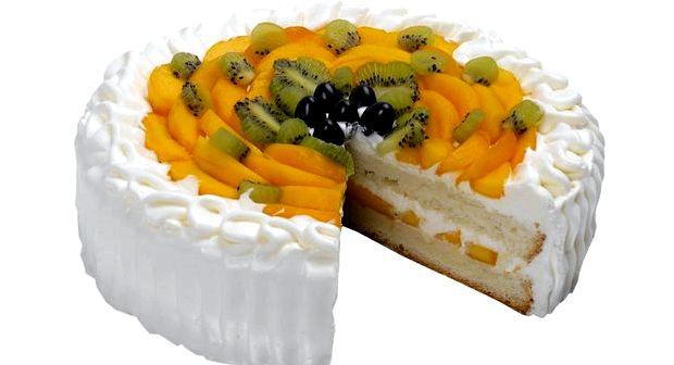 Торт со взбитыми сливками и фруктами рецепт с фото
