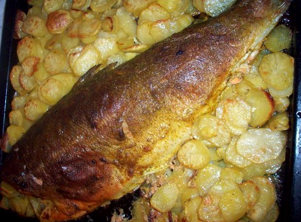 Запеканка из рыбы с картофелем в духовке пошаговый рецепт с фото