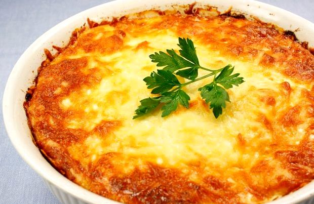 Запеканка картофельная с фаршем и грибами в духовке рецепт со сметаной