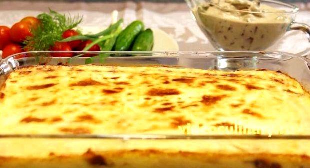 Запеканка картофельная с курицей и грибами в духовке рецепт с фото