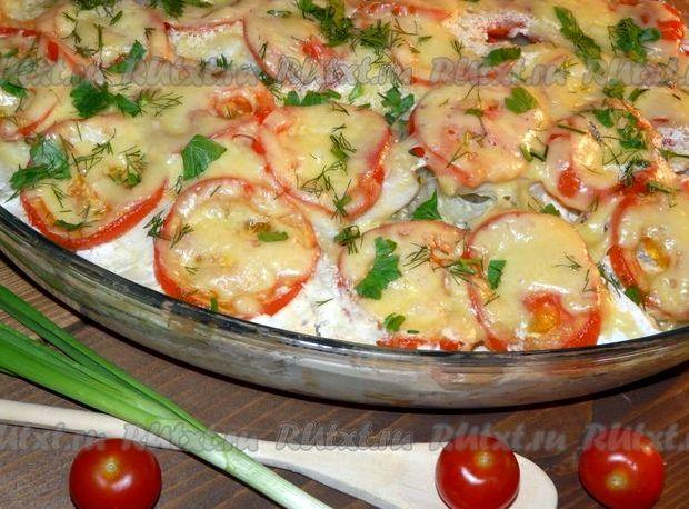 Запеканка картофельная с рыбой в духовке рецепт с фото