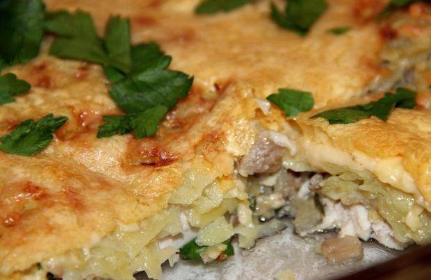 Запеканка с куриным филе и картошкой в духовке рецепт с фото
