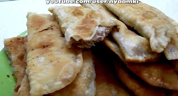 Заварное тесто для чебуреков хрустящее рецепт с фото