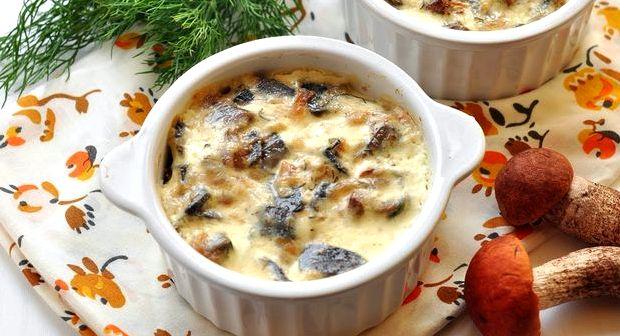 Жюльен из грибов и курицы в духовке рецепт с фото